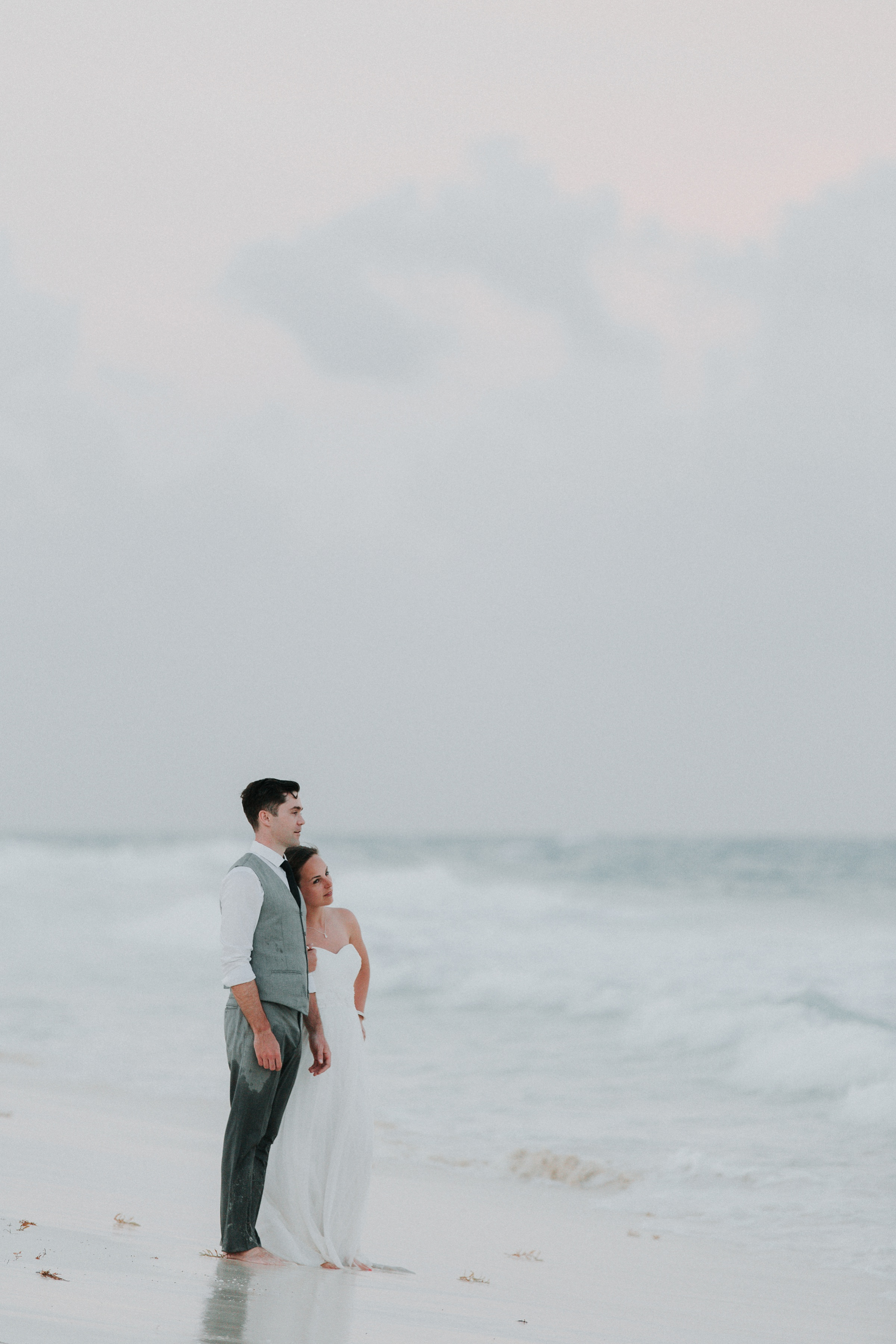 wedding photo by Julie MacKinnon Photography Destination wedding playing in the ocean