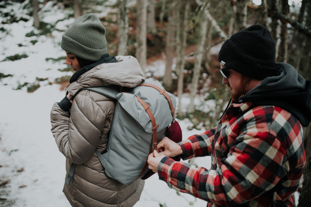 rawson lake trail, elope in banff, adventure photographer, adventure engagement session, adventure session