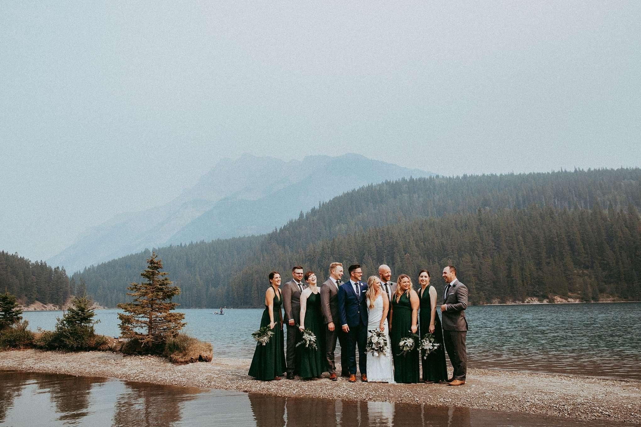 two jack lake, two jack lake wedding, banff photographer, banff photographers, banff wedding, banff wedding photographers
