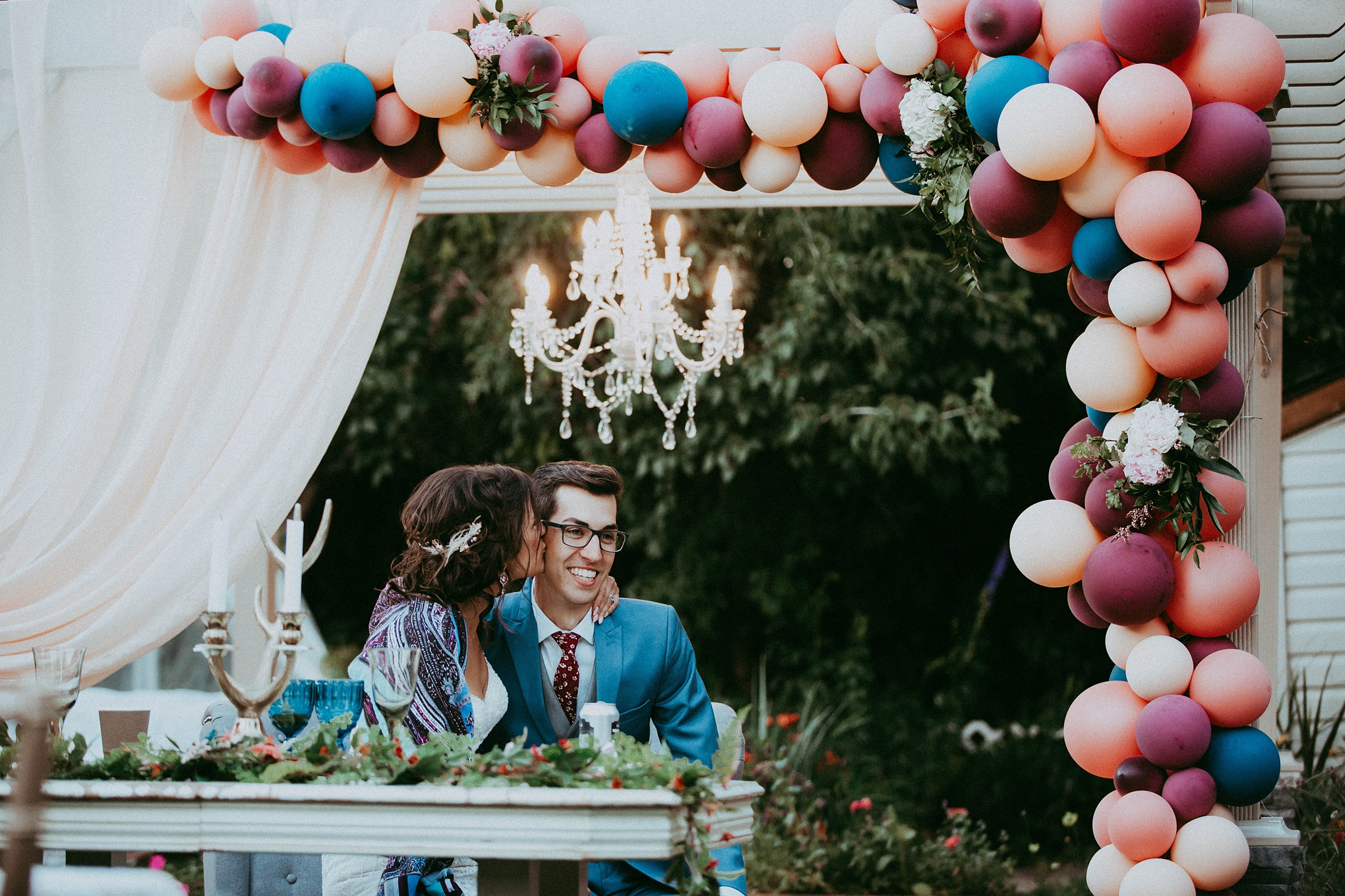 calgary elopement photographer, calgary elopement photographers, intimate wedding, boho wedding, balloon wedding, calgary photographers
